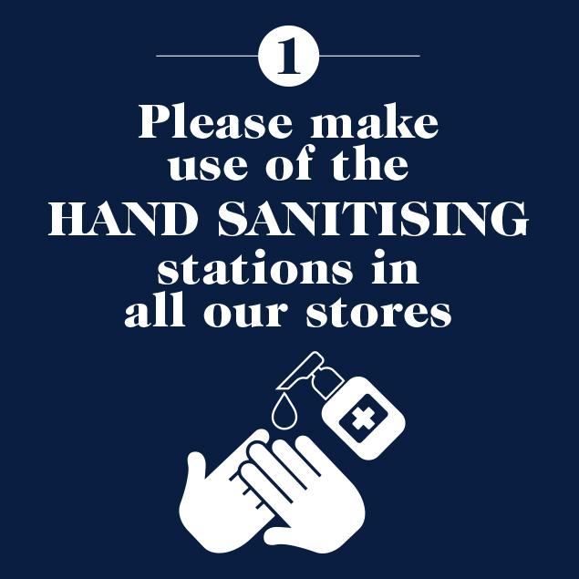 Handsanitising stations