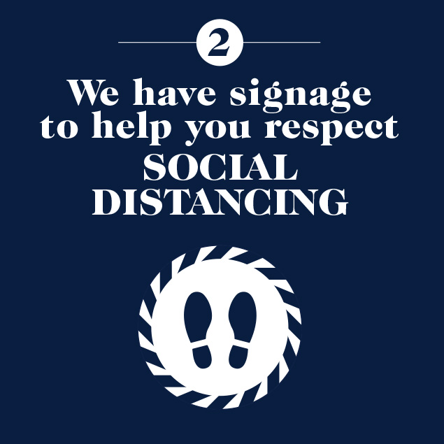 Signage to help social distancing