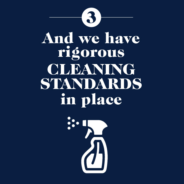 Rigorous cleaning standard